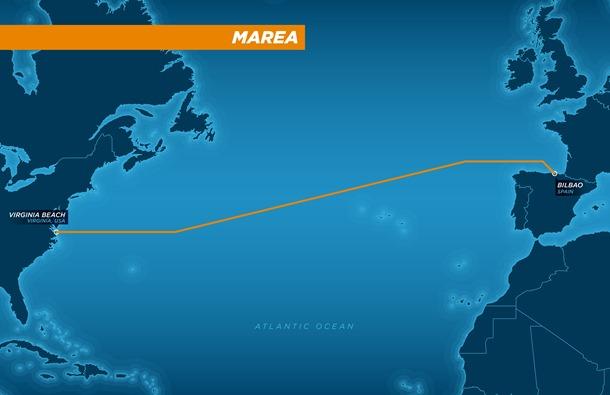 Le projet du câble transatlantique MAREA.